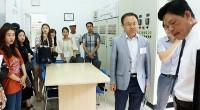 Đoàn sinh viên Hàn Quốc tham quan KCN Long Hậu