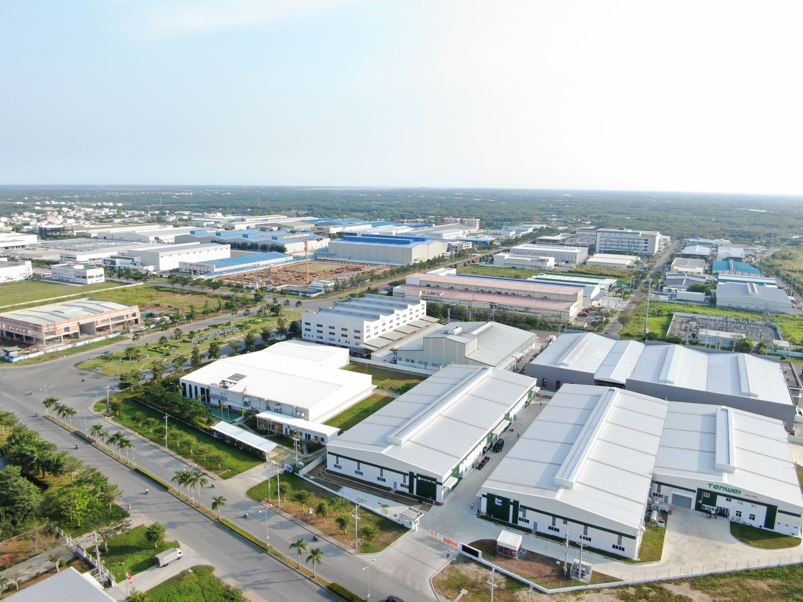 Leasing logistics warehouse in Viet Nam at Long Hau Industrial Park